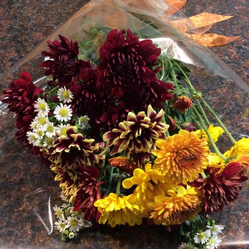 Seasonal Wrapped Bouquet (Autumn)