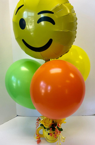 Smiley Mug Balloon Bouquet