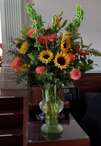 Essence of Autumn Funeral Vase