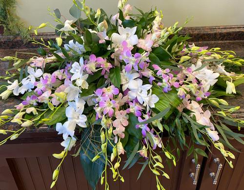 Orchid Casket Spray