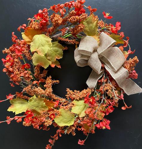Rustic Grapevine Silk Wreath