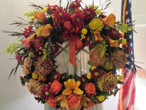 Sympathy Wreath-Autumn
