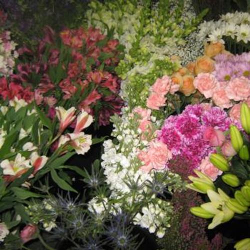 Pastel Cut Flowers (Premium)