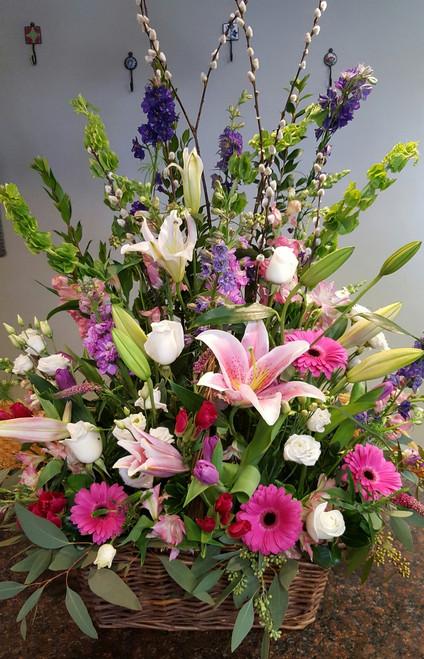 Blessings of Spring Funeral Basket