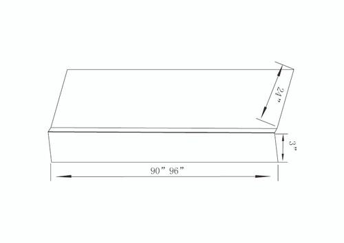 """RRP96(1.5""""X96"""")  - White Shaker"""