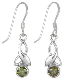 Silver Birthstone Earrings - May