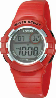 Lorus Red Unisex Digital  Watch R2399HX9 RRP £24.99 now £18.95