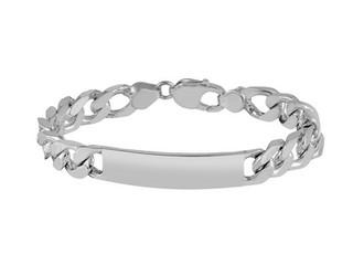 "Sterling Silver Hallmarked Handmade Gents 8.5"" Identity Bracelet"