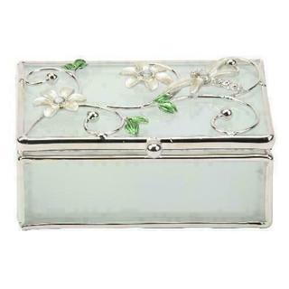Sophia Glass & Wire White Dragonfly Trinket Box