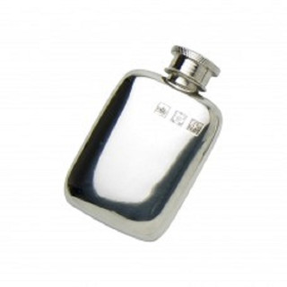 Pewter 1.5oz  Pocket  Flask With Pewter Touchmarks