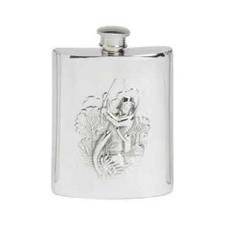 Pewter 6oz Fisherman's Flask