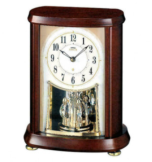 Seiko Emblem Wooden Mantel Clock AHW566B RRP £275.00 Our Price £199.95