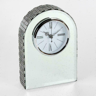 Hestia Glass Mirror Mantel Clock