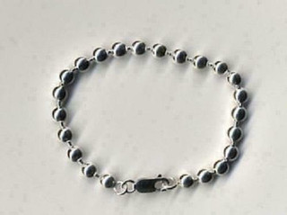 Sterling Silver 4.5mm Ball Chain Bracelet
