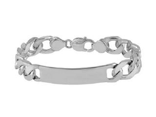 "Sterling Silver Hallmarked Gents 8.5"" Identity Bracelet"