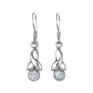 Silver Birthstone Earrings - April