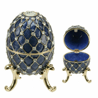 Juliana Treasured Trinkets - Large Blue Egg