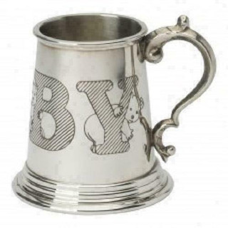 Childs Baby Pewter Christening Cup