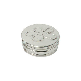 Pewter 3D Flower Trinket Box