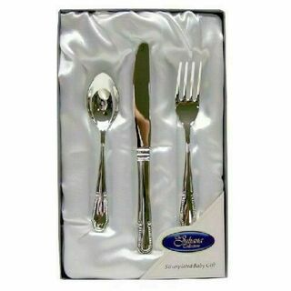 Silver Plated Knife, Fork & Spoon in Gift Box