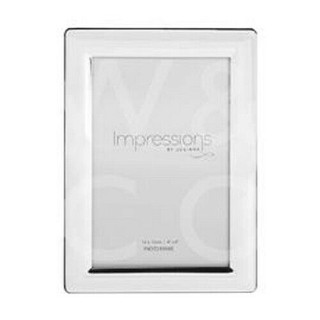 """Silver Plated 4"""" x 6"""" Curved Edge  Photo Frame"""