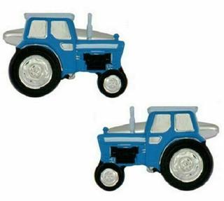 Blue Tractor Cuff Links In Presentation Box