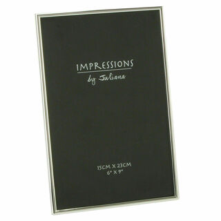 """Silver Plated 6"""" x 9"""" Photo Frame"""