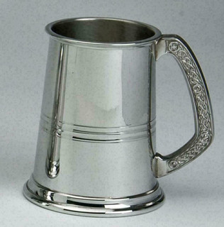 1pt Tradtional Lined Band Pewter Tankard
