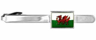 Welsh Flag Tie Clip In Presentation Box