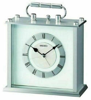 Seiko Carriage Clock With Alarm QHE066S RRP £80.00 Our Price £68.00 Free P&P