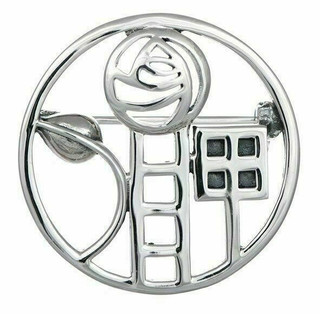 Sterling Silver Rennie Mackintosh Style Brooch