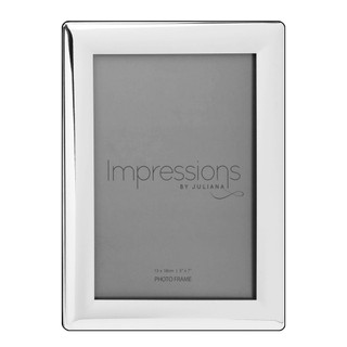 """Silver Plated 5"""" x 7"""" Curved Edge  Photo Frame"""