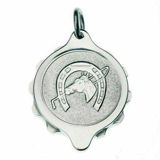 SOS Talisman Stainless Steel Equestrian Pendant