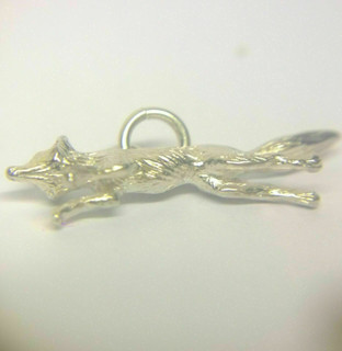 Fox Charm In Solid Sterling Silver