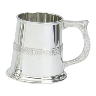 1pt Pewter Celtic Tankard