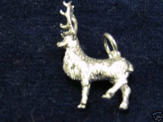 Exmoor Stag Charm In Silver By Peter James