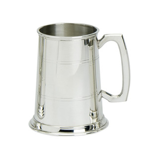 Traditional Lined 1pt Glass Bottom Tankard