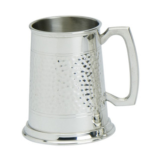 Pewter 1/2pt Traditional Hammered Tankard
