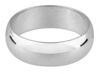 Platinum Ladies 2mm Light Weight D Shape Wedding Ring