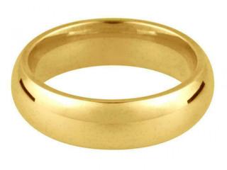 18ct Yellow Gold 4mm Medium Weight Court Shape Wedding Ring
