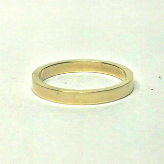 18ct Yellow Gold 2mm Medium Weight Flat Wedding Ring