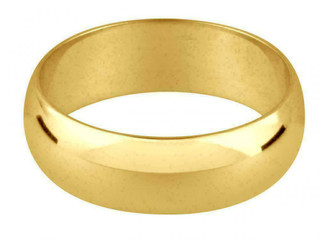18ct Yellow Gold 4mm Medium Weight D Shape Wedding Ring