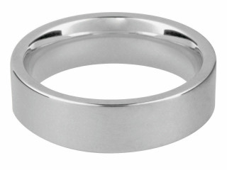 Gents Sterling Silver Hallmarked Heavy 6mm Easyfit Comfort Shape Wedding Ring