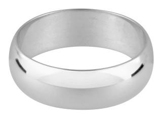 Sterling Silver Hallmarked Heavy 3mm D Shape Wedding Ring