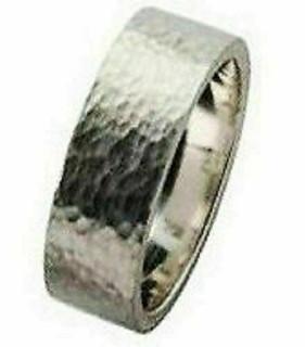 Handmade Sterling Silver Hallmarked 6mm Hammered  Wedding Ring Made especially f