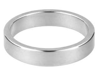 Sterling Silver Hallmarked Heavy 2mm Flat  Wedding Ring