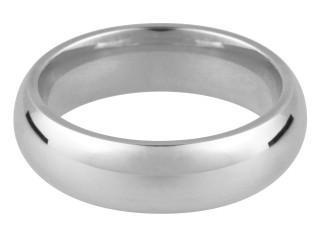 Sterling Silver Hallmarked Heavy 6mm Court Shape Wedding Ring