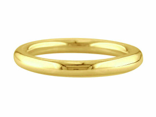 9ct Yellow Gold Ladies 2mm Halo Shape Wedding Ring