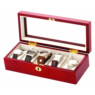Mele Wooden Lockable Watch Box