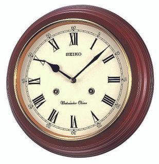 Seiko Westminster/Whittington Chime Wall Clock QXH202B RRP £85.00 Now £76.50